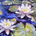 Water Lilies Painting Donna
