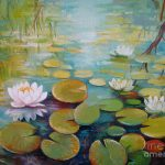 Water Lilies Pond Painting Elena