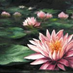Water Lily Painting Paint Kevin