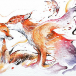 Watercolor Has Unpredictable Character Lets Create Expressive Animal