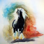 Watercolor Horse Study Christa Nelson