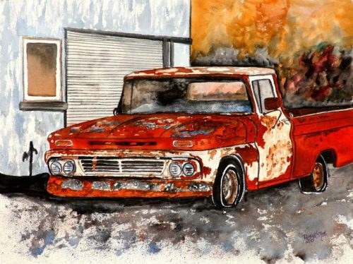Watercolor S Art Derek Mccrea Old Chevy Truck