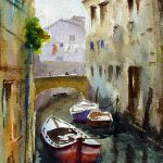 Watercolor Paintings Venice Italy