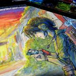 Watercolor Time Lapse Painting Ink Legend Zelda Link Alternative Series