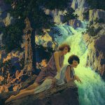 Waterfall Maxfield Parrish Art Scans