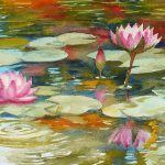 Waterlily Pond Painting Janet