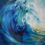 Wave Runner Blue Ghost Equine Painting Marcia