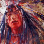 White Wolf James Ayer Outstanding Paintings Native American