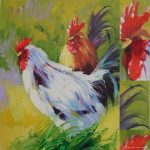 Wholesale Chinese Cheap Beautiful Peacock Oil Painting House