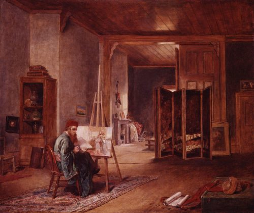 William Holman Hunt Painting John Ballantyne Oil