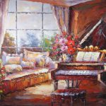 Window Piano Painting Aknife Painters Paintings Reproduction Never