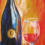 Wine Painting Bottle Glass Art Limited