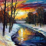 Winter Palette Knife Oil Painting Canvas Leonid