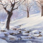 Winter Scene Paintings All