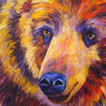 Abstract Bear Grizzley Painting Mary