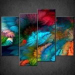 Abstract Colourful Split Canvas Wall Art Prints Larger Sizes Available