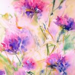Abstract Flower Original Watercolor Painting