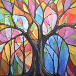 Abstract Original Tree Art Painting Colors Wind Amy