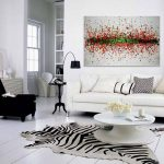 Abstract Painting Living Room Decorate Using Paintings
