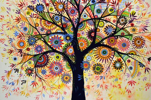 Abstract Tree Painting Life Giver Amy