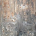 Acrylic Abstract Art Painting Brown Grey White