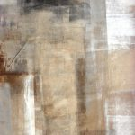 Acrylic Abstract Art Painting White Grey Brown