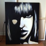Acrylic Painting Canvas Black White Girl Paintings Pinterest Acrylics