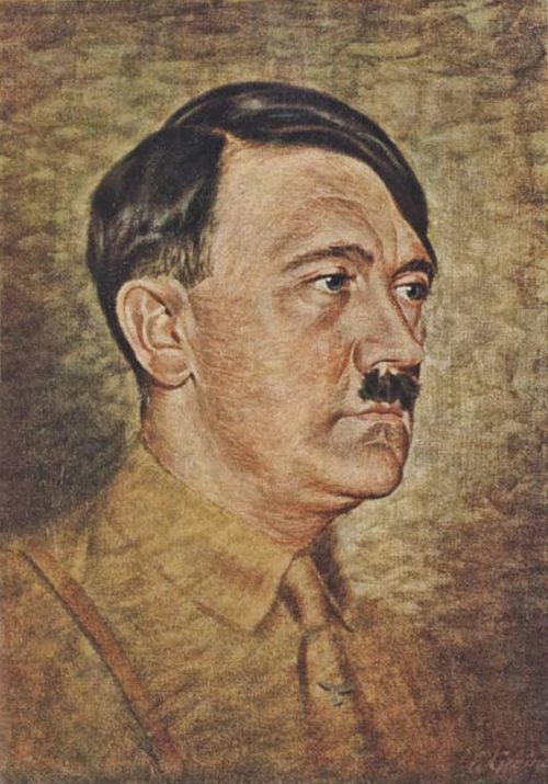 Adolf Hitler Painting Early Undertheironsky