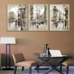 Aliexpress Buy Home Decor Canvas Painting Abstract City Street Landscape