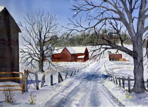 Amish Farms Emery Bogardy Watercolor
