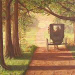 Amish Painting Horse Buggy Country Trails Anns Nature