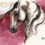 Andalusian Horse Acrylic Painting Angel
