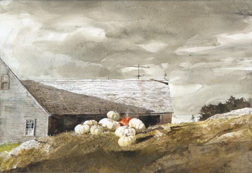 Andrew Wyeth Albinos Study Painting