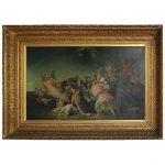 Antique Old Master Copy Oil Canvas Renaissance Allegorical Painting