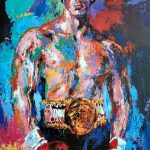 Artist Leroy Neiman Ring Announcer Rocky Movies Has