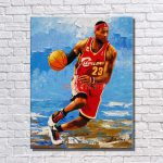Artist Painted Famous Basketball Star Pop Art Painting Large Canvas Wall