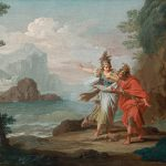Athena Appearing Odysseus Reveal Island Ithaca Painting Giuseppe