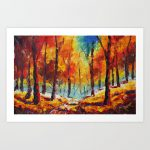 Autumn Landscape Oil Painting Bright Palette Knife Paintings