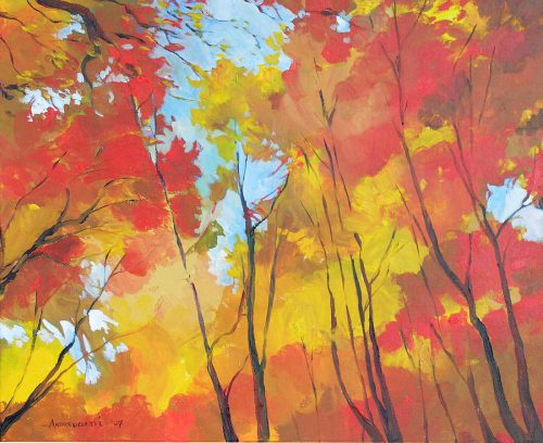 Autumn Leaves Painting Alessandro