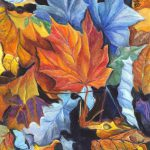 Autumn Leaves Red Gold Painting Carol