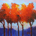 Autumn Trees Original Acrylic