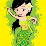 Bali Dancer Cartoon Openlite