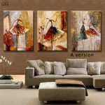 Ballet Dancer Hand Painted Modern Abstract Oil Painting Canvas Wall Art Living