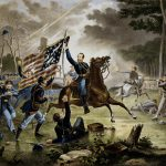 Battle Chantilly Civil War Painting Hell