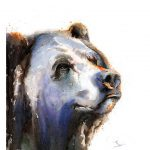 Bear Art Print Watercolor Wall