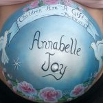 Beautiful Pregnant Belly Paintings Girly Design