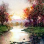 Beautiful Watercolor Landscape Paintings Feng Fine Art Painting