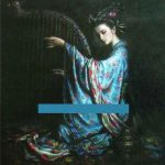 Beauty Chinese Oil Painting Canvas Calligraphy Art Sale