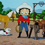 Betty Boop Cowgirl Painting Thomas