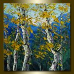 Birch Tree Forest Landscape Painting Oil Canvas